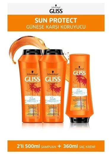 Gliss Gliss Sun Protect Şampuan 500 Ml X 2 Adet + Saç Kremi 360 Ml Renksiz